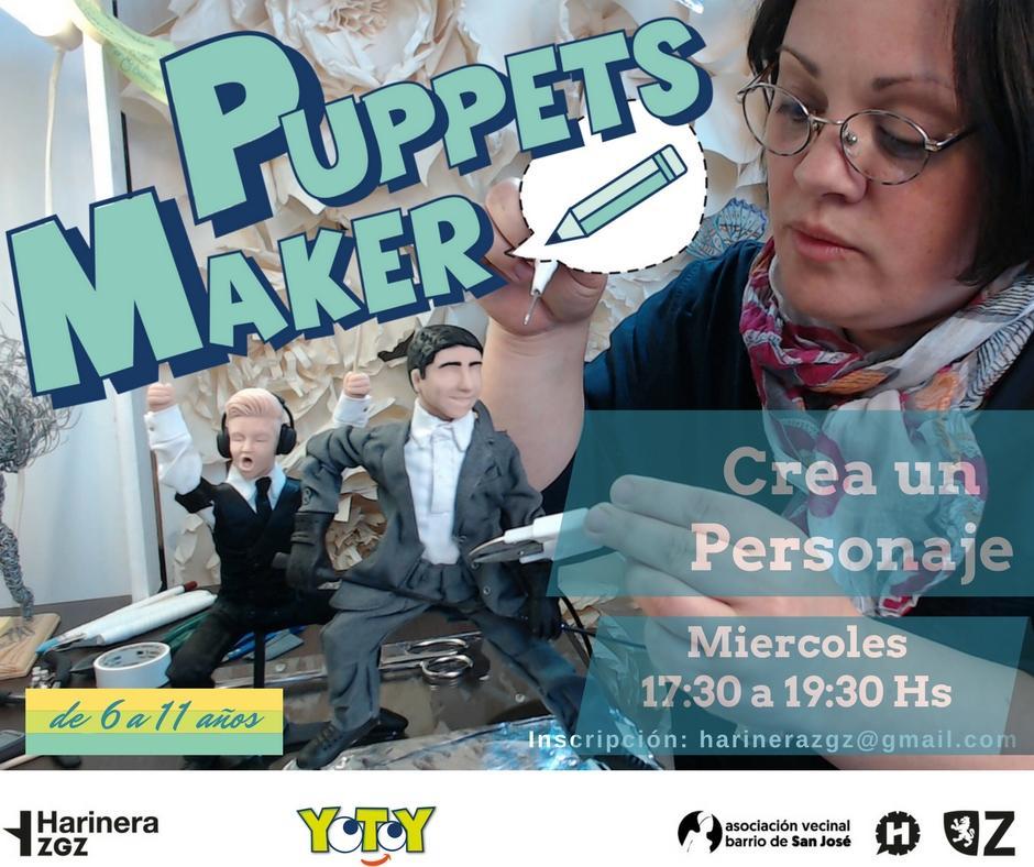 cartel Taller creacion de personajes y muñecos taller audiovisual