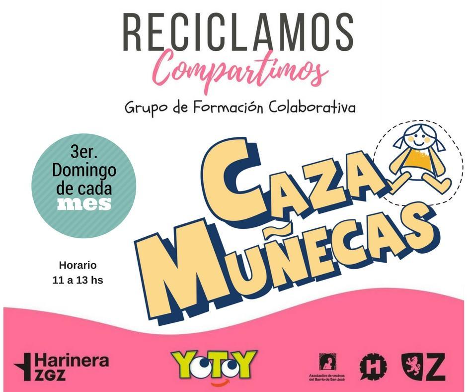 Cartel para el Grupo Colaborativo Caza Muñecas